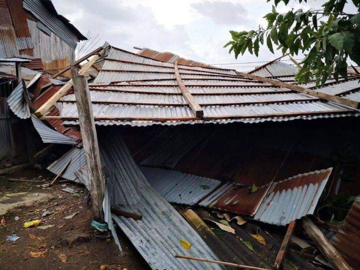 Caserío La Unión: Fuerte temporal dejó sin techo a 7 viviendas