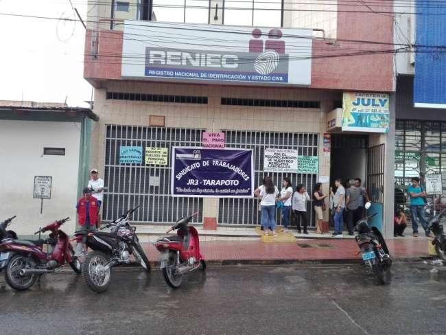 Reniec Tarapoto comenzará atención al público a partir de este viernes