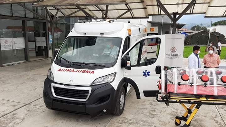 Ambulancia adquirida por el PEHCBM y entregada hace poco más de un mes al hospital MINSA de Tarapoto está inoperativa