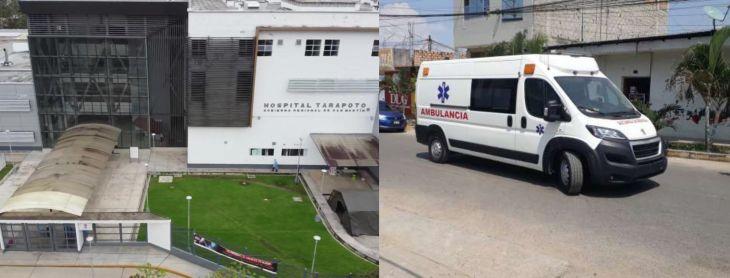 Trabajadores del Hospital II – 2 de Tarapoto lamentan que ambulancia nueva no esté en uso