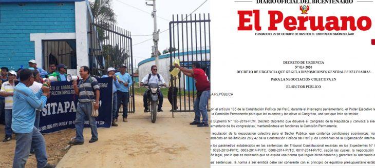 Sindicato de Emapa sostendrá reunión hoy con otras organizaciones para tratar sobre el Decreto de Urgencia 014