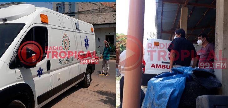 Esta mañana fue encontrada en un taller del barrio Huayco, la «moderna» ambulancia adquirida por el Pehcbm