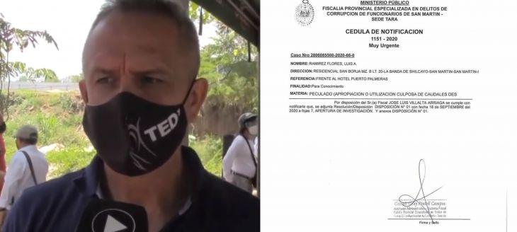 Tedy Del Águila: Alcalde provincial anuncia que asumirá su defensa y demandará a la persona que formuló denuncia en su contra