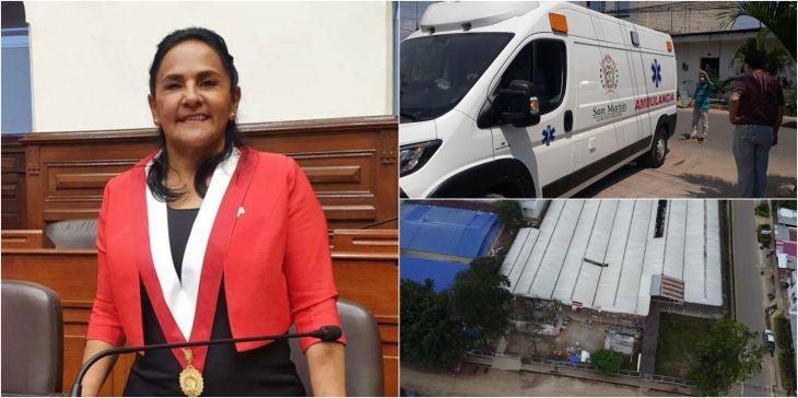 Congresista Robertina Santillana, pide se investigue remodelación del hospital Covid Banda de Shilcayo y nueva ambulancia hospital de Tarapoto