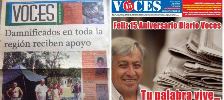 El Diario Voces cumple hoy 15 años de fundación