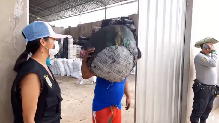 Más de 8 toneladas de carbón fueron incautados por no contar con la documentación que acredite su procedencia legal