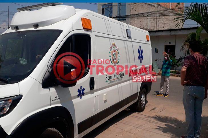 Tarapoto: Ambulancia transferida al Hospital II – 2 de Tarapoto fue ubicada el día de ayer en taller de mecánica