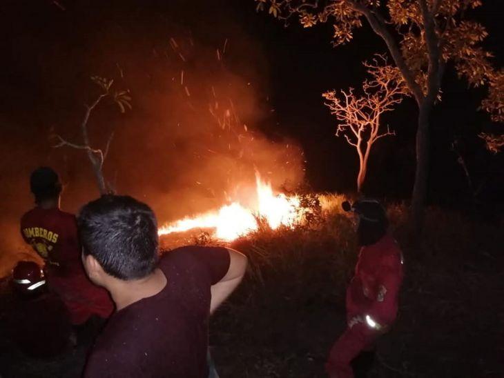 San Martín: Incendio forestal arrasa con 30 hectáreas de bosque