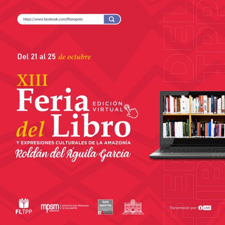 Del 21 al 25 de octubre se realizará XIII Feria del Libro denominada Roldán del Águila García