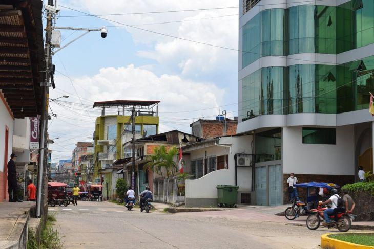 MPSM instala en diferentes sectores de Tarapoto,  cámaras de video vigilancia que permite visualizar en 360 grados