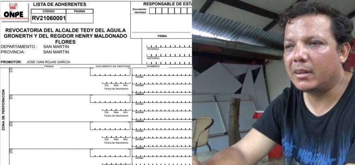 Revocatoria: Iván Rojas García, recibió esta mañana el kit electoral que le permite iniciar el proceso de recolección de firmas