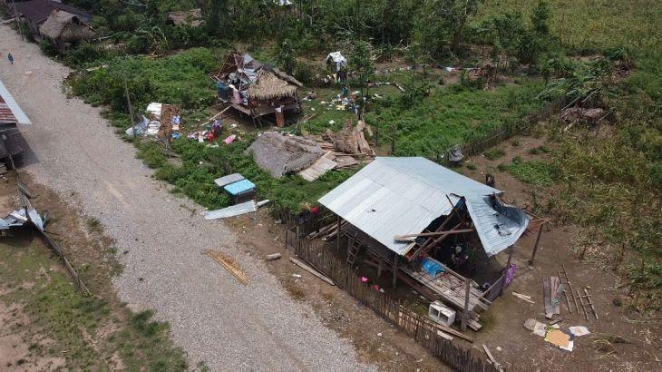 Fuertes lluvias y vientos dejan 55 viviendas afectadas en el distrito de Papaplaya