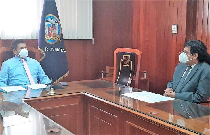 Autoridades del Poder Judicial y Ministerio Público de San Martín sostuvieron reunión de coordinación