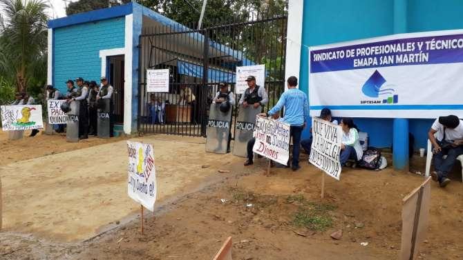 Trabajadores de EMAPA San Martin exigen la renuncia inmediata de gerentes de esta empresa