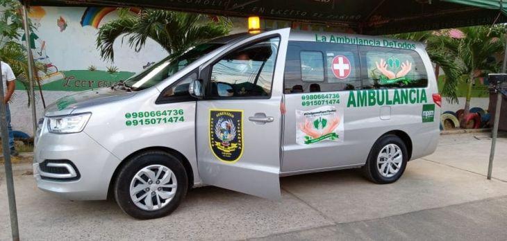 Colectivo Respira San Martín entregó ambulancia para el cuerpo de Serenazgo de Tarapoto En sesión de uso y por dos años