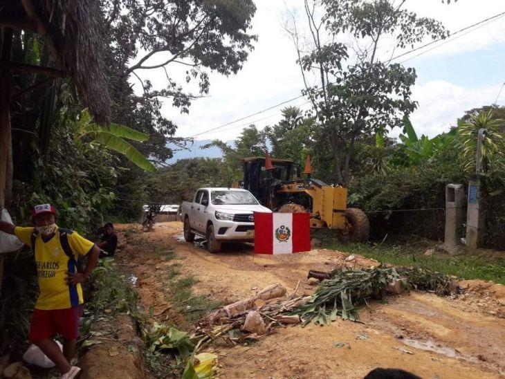 Moradores de comunidad Nativo Anak Churucyacu de Lamas inmovilizan maquinaria de empresa Alto Amazonas