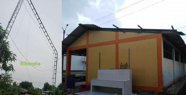Bellavista: 17 familias afectadas, una antena de radio local y otra de servicio de internet destruidas, son los daños causados por fuertes vientos en Cuzco, distrito de Alto Biavo