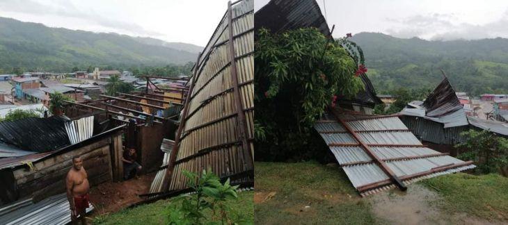 Huallaga: Fuertes vientos con lluvia y granizo deja 15 viviendas sin techo en distrito de Alto Saposoa – Pasarraya