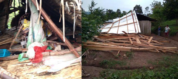 Localidad de Ahuihua: Se registraron tres viviendas afectadas y dos inhabitables tras fuerte temporal