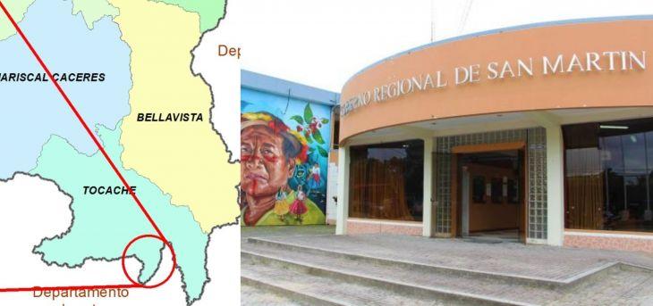 Congresistas huanuqueños pretenden crear distrito con caseríos que le pertenecen a San Martín