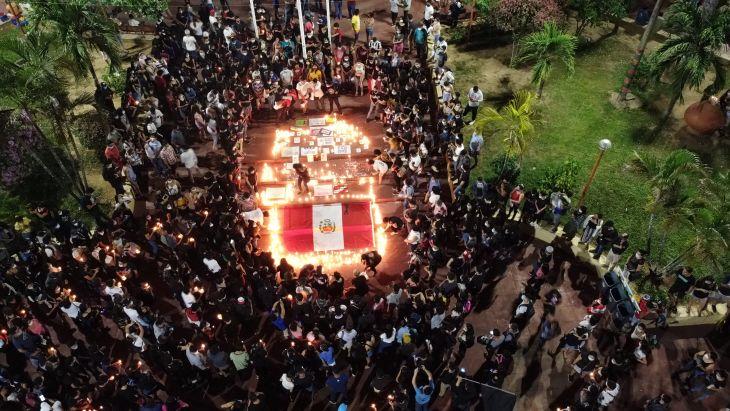 Anoche se realizó vigilia Por la Patria en Tarapoto