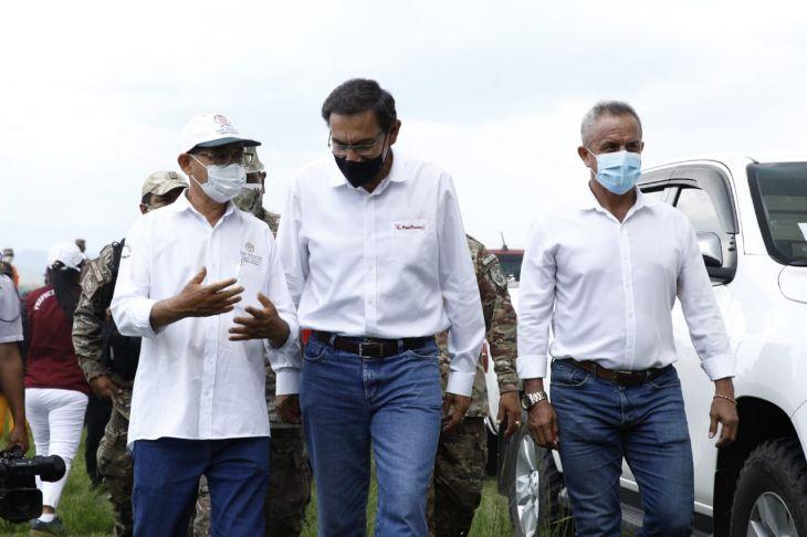 El Presidente de la República Martín Vizcarra arribó este mediodía a Tarapoto