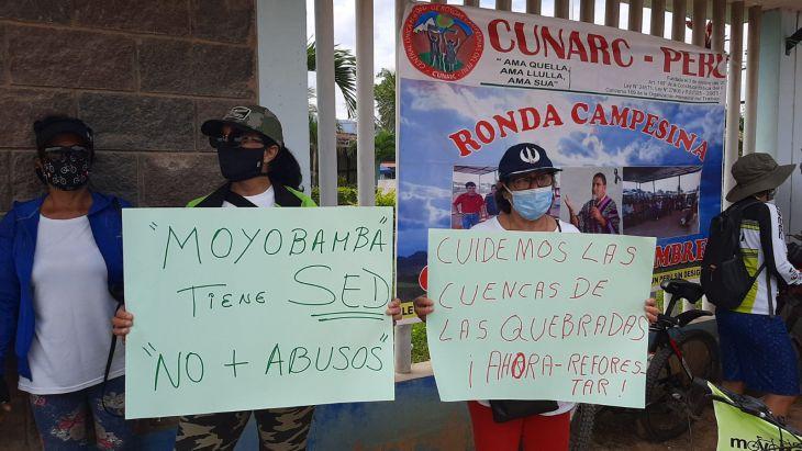 Anuncian huelga indefinida hasta que OTASS se retire de Moyobamba