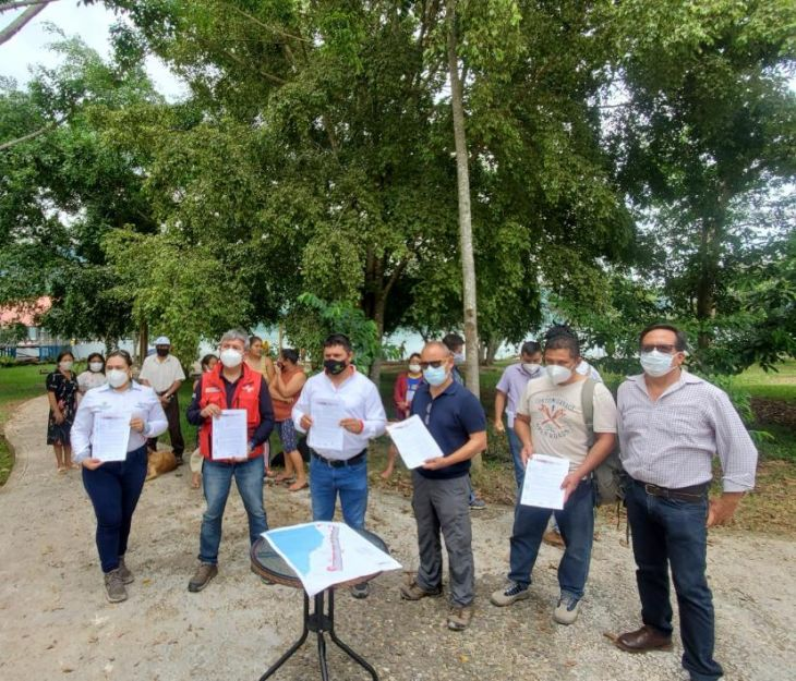 Sauce: Plan COPESCO entregó hoy el terreno en el que se reiniciará el saldo de la obra para mejorar la infraestructura turística en el sector 2 de Mayo