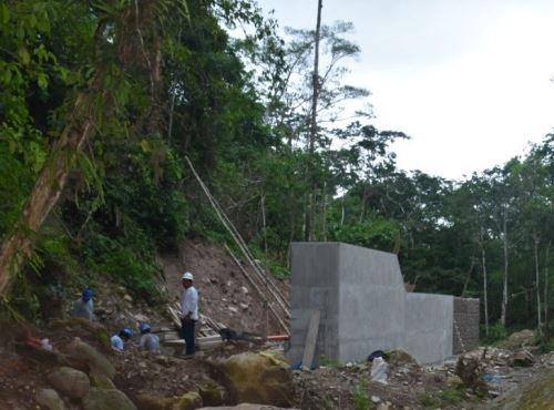 Ramiyacu: 70% de avance en obra que permitirá abastecer de agua potable a Moyobamba