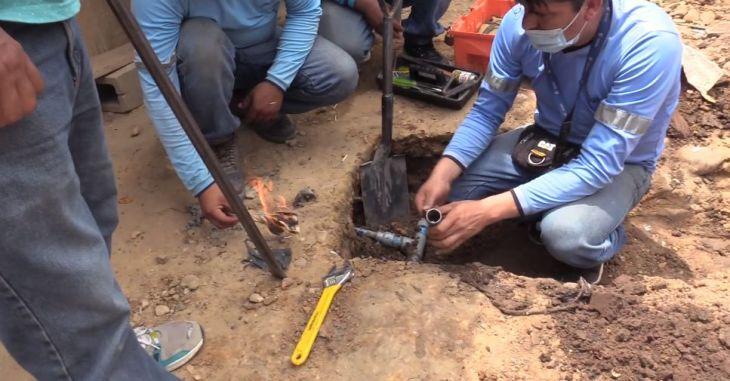 Emapa San Martin levanta conexiones clandestinas en el distrito de la Banda de Shilcayo