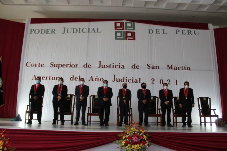PJ da a conocer la nueva conformación de las Salas Superiores de la Corte Superior de Justicia de San Martín para el Año Judicial 2021