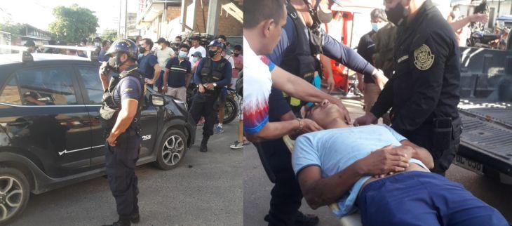 Un herido dejó accidente de tránsito el último fin de semana en la intersección del Jr. Leguía y Limatambo