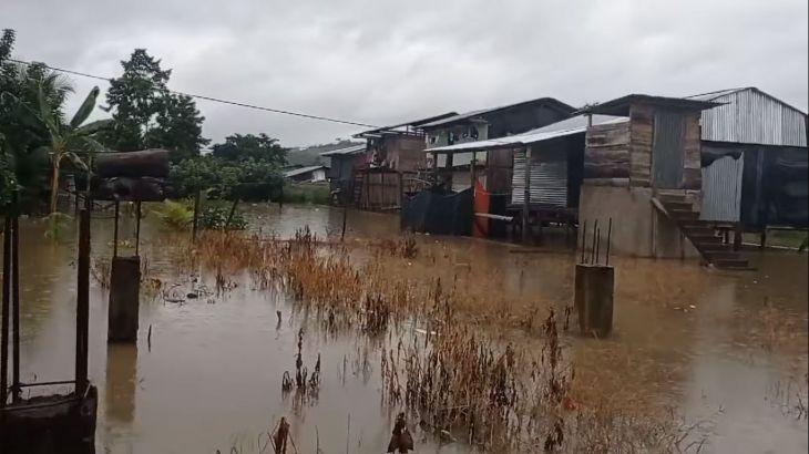 Río Huallaga inunda Centro Poblado de Sión y el distrito de Campanilla en la provincia de Mariscal Cáceres