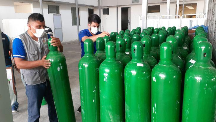 Goresam entrega 295 balones de oxígeno en la provincia de Rioja