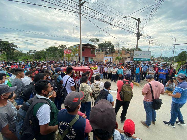 Anoche el Fedeiman y las Rondas Campesinas levantaron paro luego de acuerdos con el Gobierno Regional de San Martín