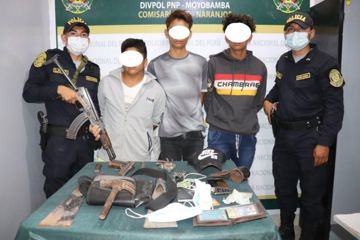 """PNP de Pardo Miguel Naranjos, logro la captura y desarticulación de una peligrosa banda de asaltantes denominada """"Los Virulentos de Naranjos"""""""