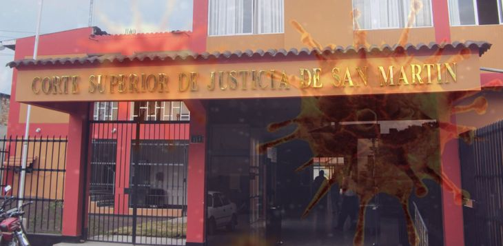 Moyobamba: Por un nuevo caso de Coronavirus, suspenden temporalmente trabajo presencial para el día de hoy en la sede central de la Corte Superior de Justicia de San Martín