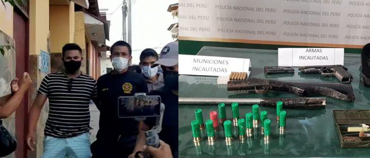 Capturan a dos de los cuatro delincuentes que la noche del lunes hirieron de bala a un conductor en el tramo Shapaja – Chazuta