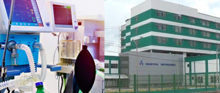 10 ventiladores de hospital de La Banda de Shilcayo fueron trasladados al hospital de Moyobamba