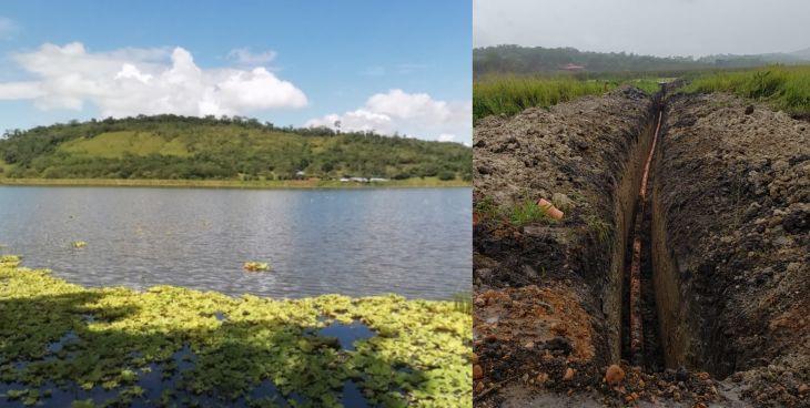 Ricuricocha: El Ing. Wildor Estela, señaló que no existe ninguna autorización del ALA Tarapoto para realizar trabajos de instalación de tubería con orientación hacia la Laguna