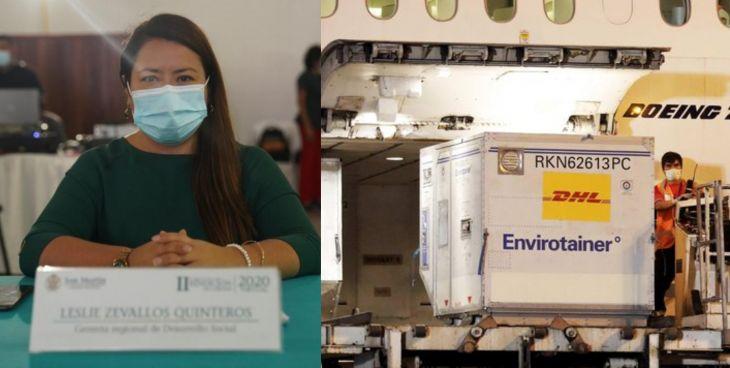 Dra. Leslie Zevallos: El miércoles o jueves debe llegar a San Martín, la primera dotación de vacunas contra la Covid-19