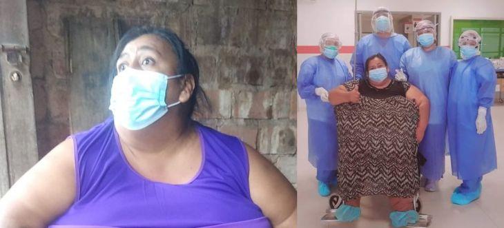 Yurimaguas: Mujer de 39 años de edad y con 117 kilos de peso venció al Covid-19