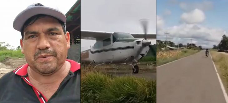 «Narcoavioneta»: El alcalde del distrito de Alto Biavo, pidió a las autoridades que hagan su trabajo investigando el despegue de una avioneta de matrícula Boliviana