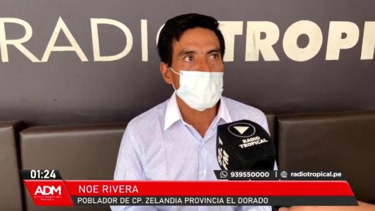 Poblador de Caserío de Zelandia, provincia de El Dorado, denunció que Consorcio Cumbaza, intenta entregar este 26 de febrero obra de agua mal ejecutada