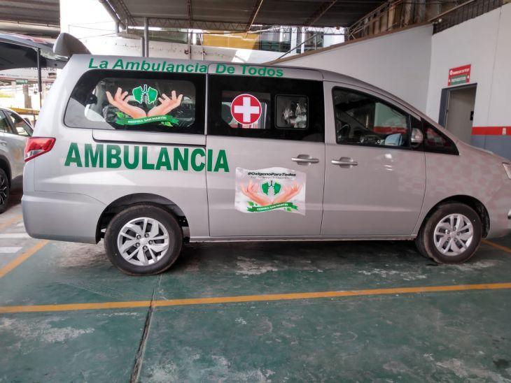 Ambulancia entregada en sesión de uso a Serenos de Tarapoto, empezará a prestar atención