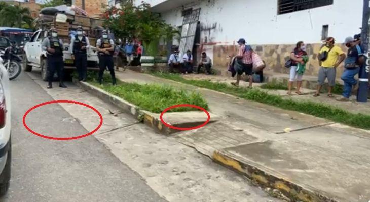 Dos delincuentes a plena luz del día hirieron de bala a agricultor que minutos antes había retirado del banco, hecho ocurrió en la intersección del Jr. Orellana y Martín de la Riva