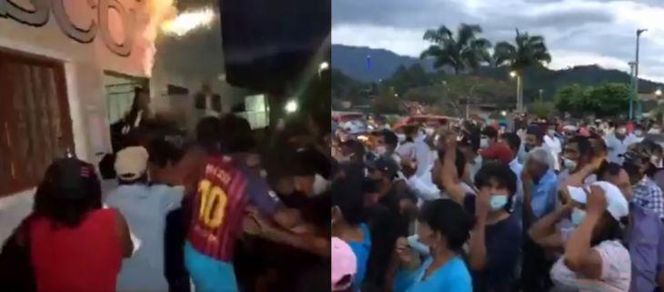 Huallaga: Pobladores de Piscoyacu, tomaron local municipal, exigen la renuncia del Alcalde Nelo Pérez Fernández, a quien acusan de malos manejos administrativos