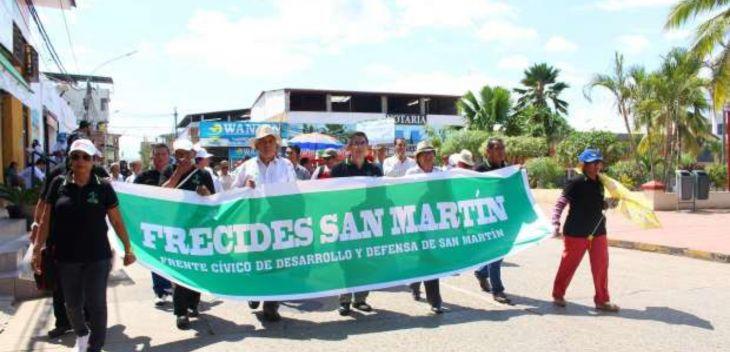 FRECIDES San Martín realizará hoy jornada de lucha en apoyo al paro nacional convocado por la CGTP