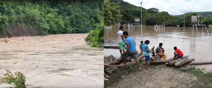 Lluvias en San Martín: En Shanao, 2 viviendas quedaron inhabitables por el desborde del río mayo