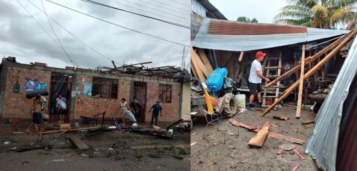 Fuertes vientos y lluvias dejan 40 familias damnificadas en el distrito de Campanilla